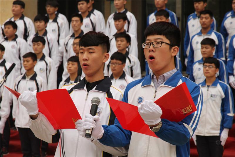 """第六届""""唱红歌、诵经典""""班级风采大赛5"""